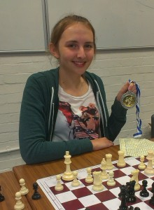 Louise with her Silver Medal